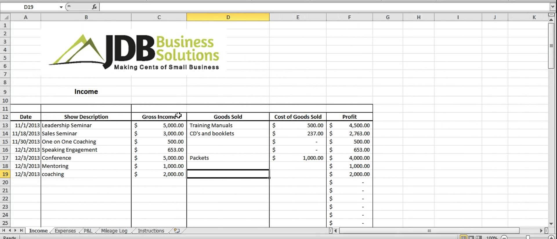 Excel Tax Return Workpapers Preparation Template