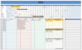 2018 yearly calendar template excel download