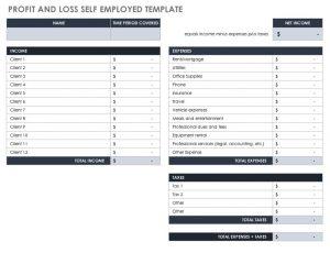 2019 Profit-and-Loss-Self-Employed-Template