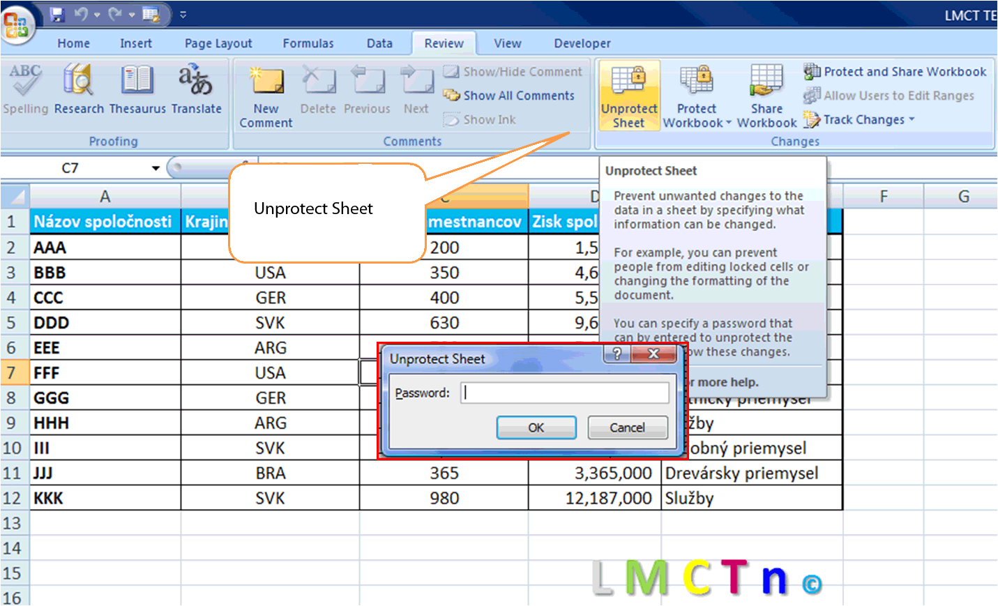 How to unlock excel spreadsheet file password protected
