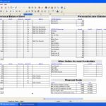 One household budget sheet template excel
