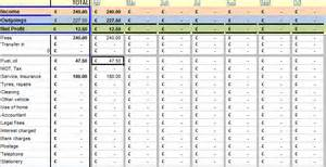 Self Employed bookkeeping spreadsheet using microsoft excel Templates
