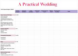 a practical wedding budget template pdf download