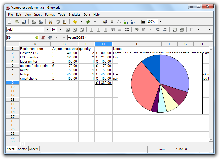 best free spreadsheet software simple