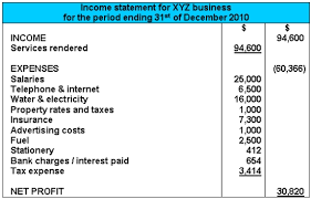 blank income statement template excel download
