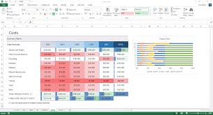 business plan in excel free download