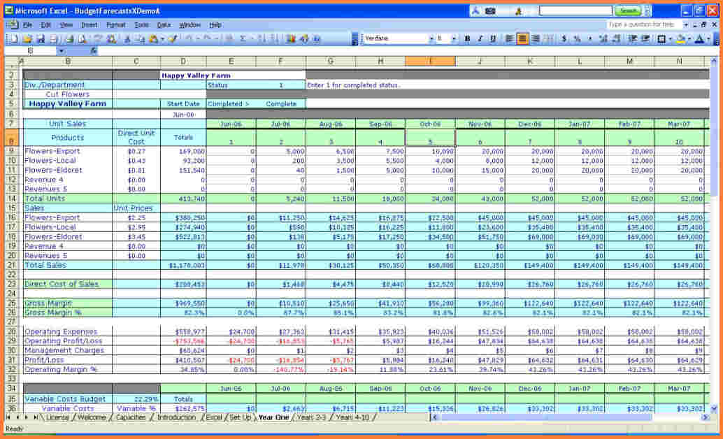 business spreadsheet example download