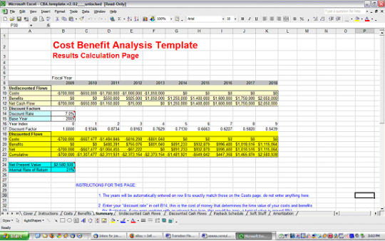 Cost Benefit Analysis Excel Template Spreadsheet Free Download