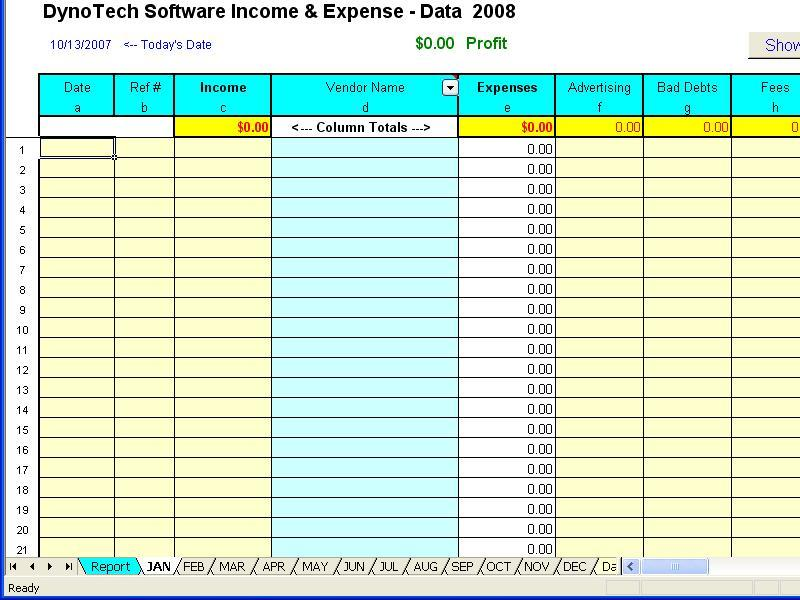 daily income and expenditure template for small business