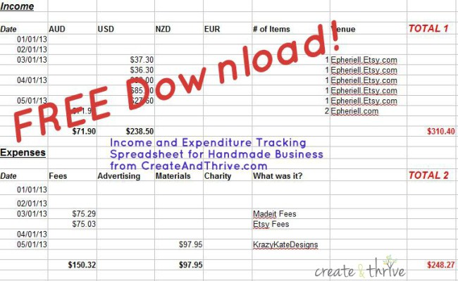daily income and expense excel sheet free download