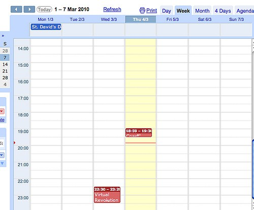 daily schedule template google docs