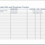 donation value worksheet in excel spreadsheet