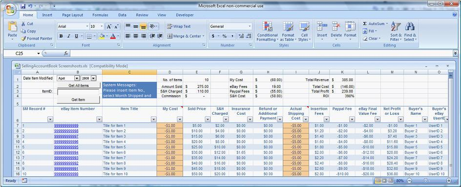 ebay ad template - ebay easy auctions tracker ultimate automate spreadsheet