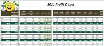 ebay profit and loss spreadsheet free download