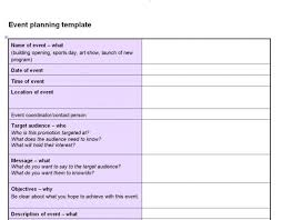 event planner template download