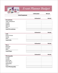 event planning spreadsheet template pdf download