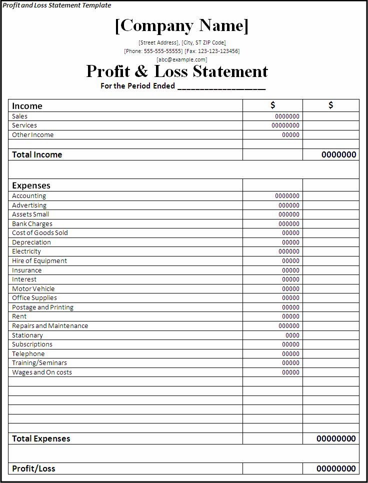 example profit and loss statement download