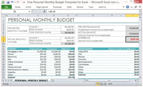 examples of budget spreadsheets using excel template