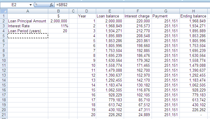 excel loan amortization template free download