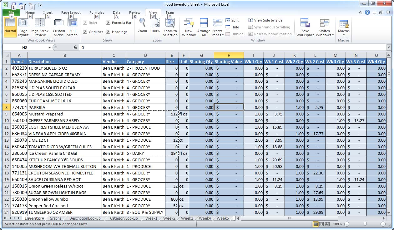 excel sheet format download