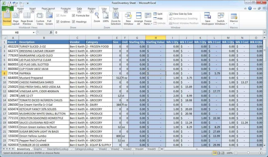 excel spreadsheets free