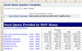 excel stock quotes download
