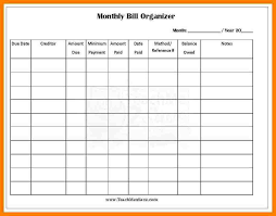 free bill budget spreadsheet download