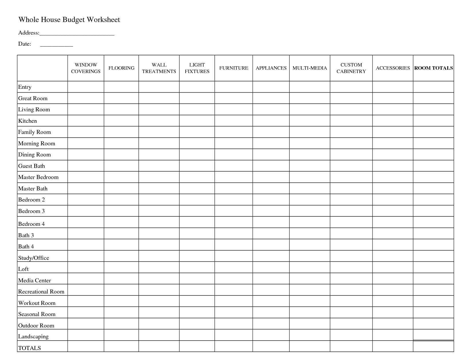 free bill tracker excel budget template download