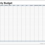 Monthly Household Budget Worksheet Printable - Free Worksheet ...