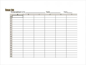 free blank spreadsheet pdf template free download