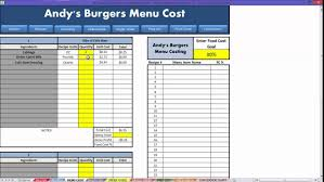 free excel food costing download