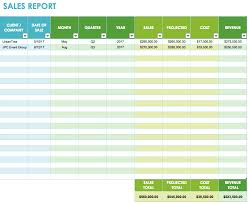 free sales report blank spreadsheet templates download