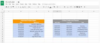 make a gantt chart using google sheets download