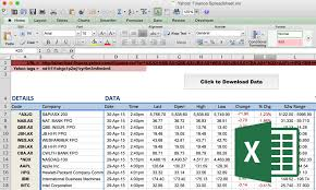google finance function historical data spreadsheet download