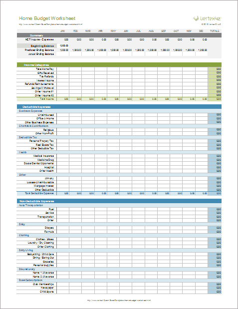 home budget tax spreadsheet template for businesstax spreadsheet
