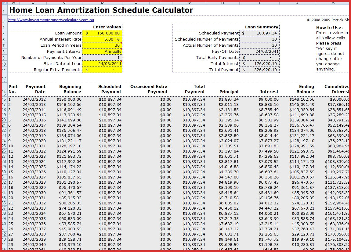 amortization schedule calculator free Lovely free mortgage home loan amortization calculator