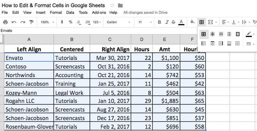 how a spreadsheet is automatically formatted using templates examples
