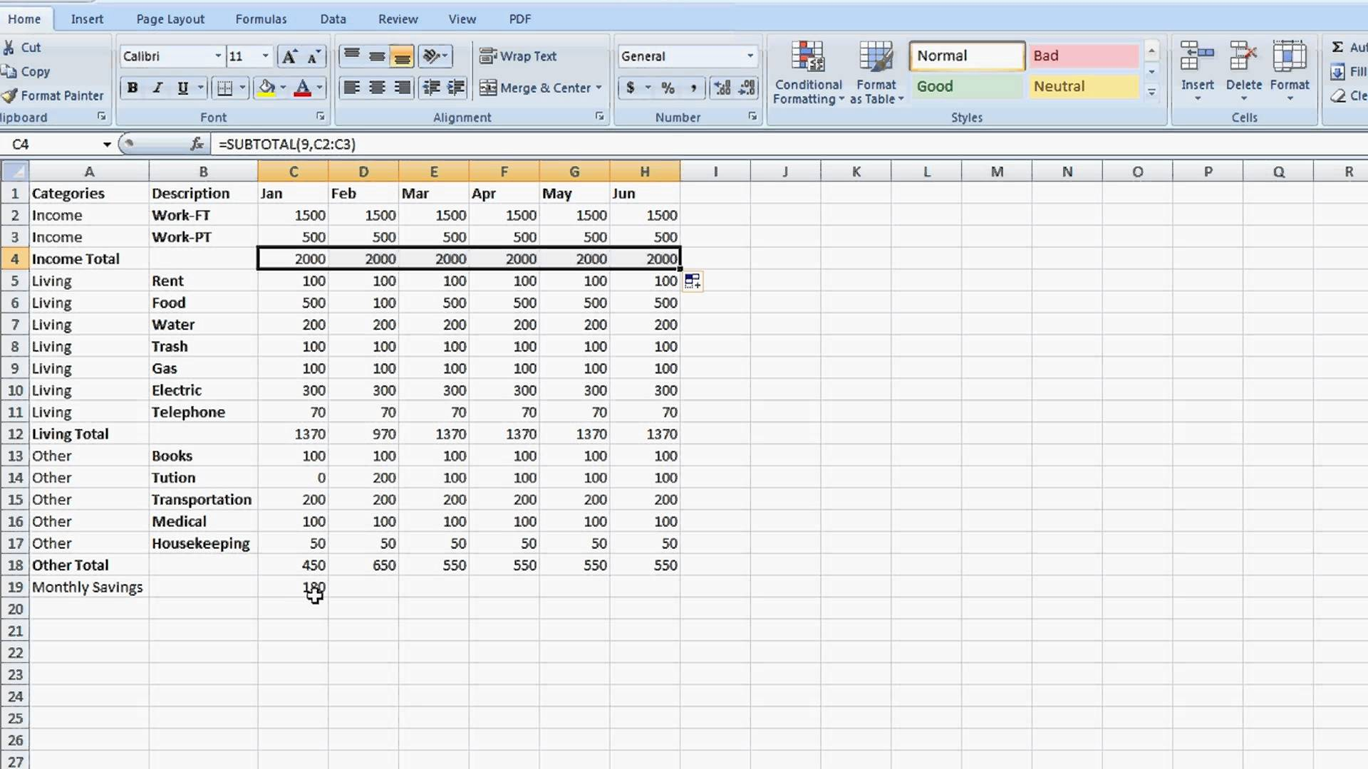 Excel Spreadsheet Formulas If