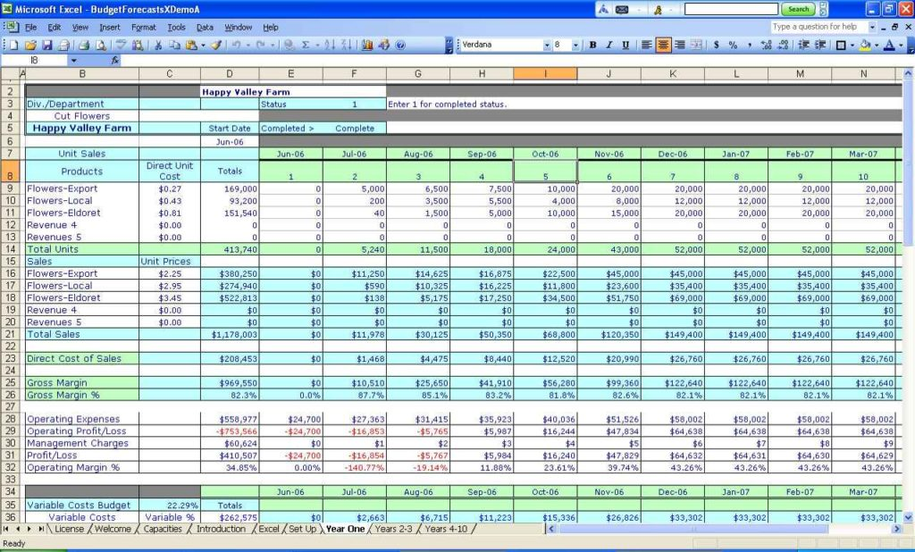 spreadsheet for small business thevillas co