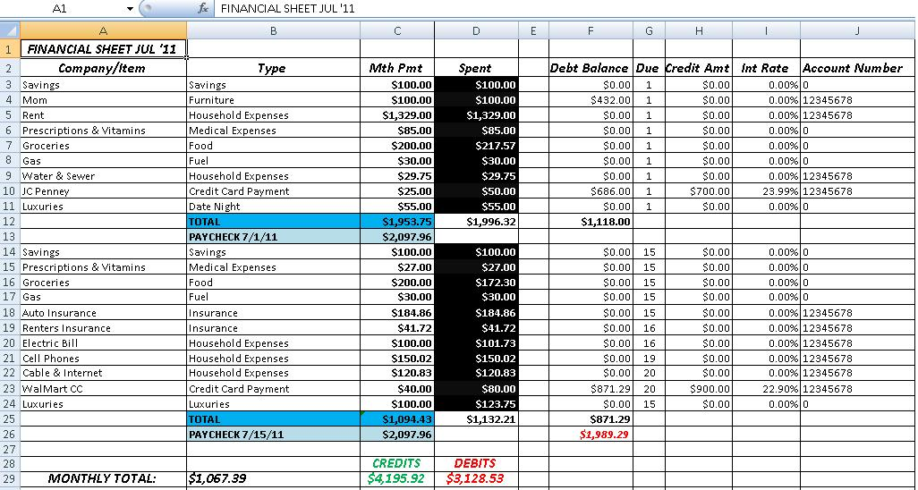 Accounting In Excel Template Under Fontanacountryinn Com
