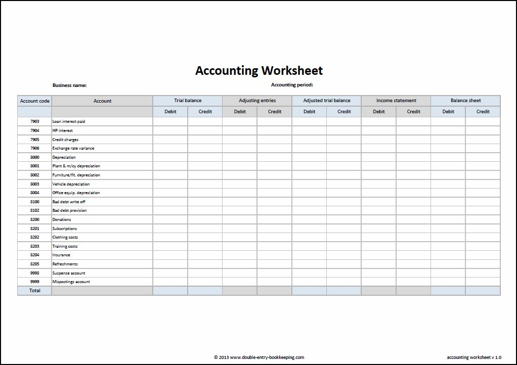 how to maintain bookkeeping accounts in excel sheet format template