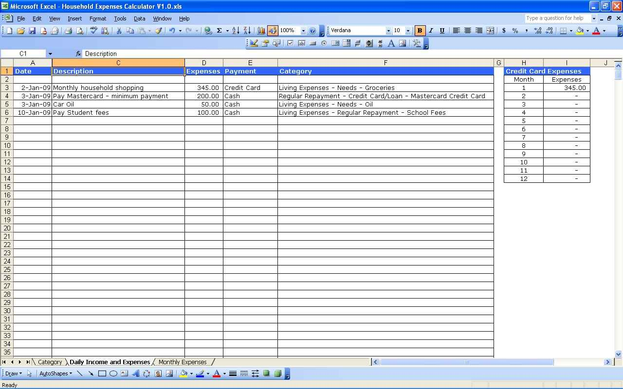 how to maintain small business accounts in excel sheet format