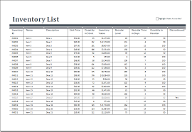 how to maintain store inventory list in excel download