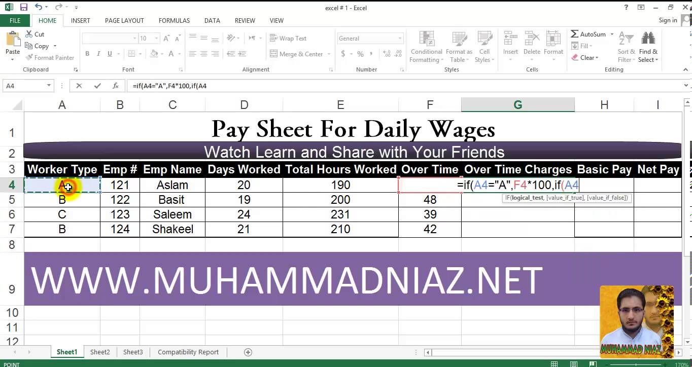 how to make a pay spreadsheet in microsoft word