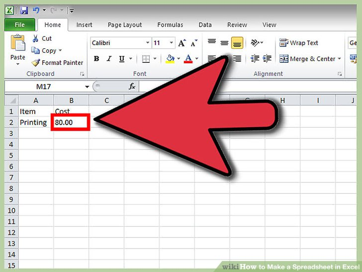 how to make a spreadsheet in excel 2016