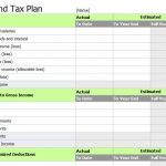 income tax excel spreadsheet template