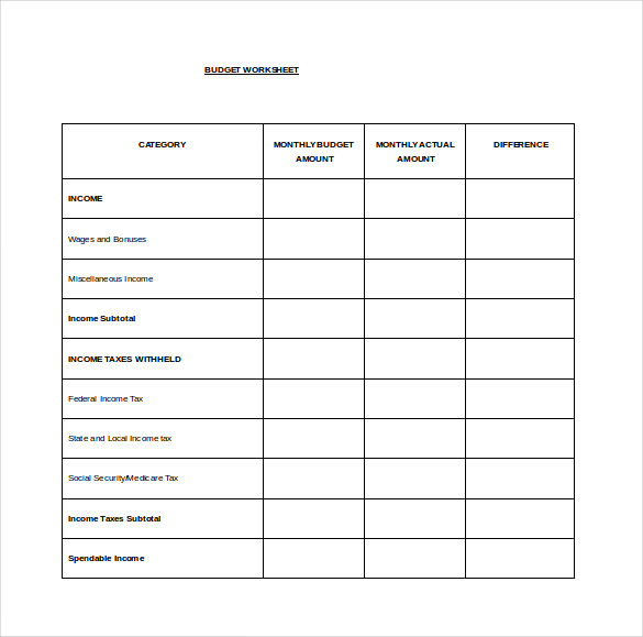 monthly bill organizer budget template excel Free Download ...