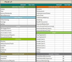 monthly budget template download