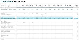 monthly cash flow statement template download