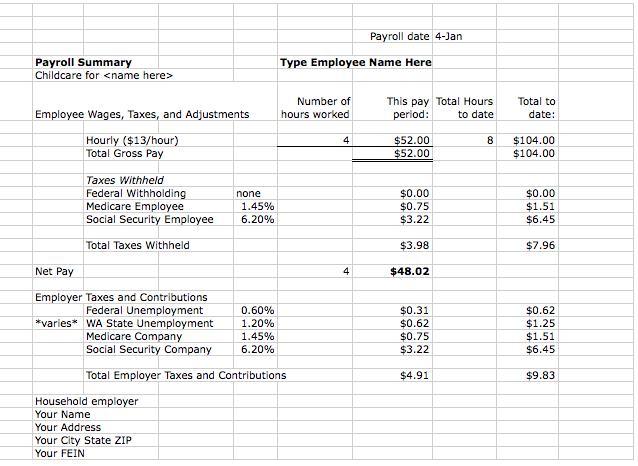 payroll tracking template